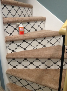 Finished Stairs w/Mod Podge