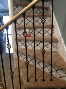 Mod Podge Wallpaper Stairs