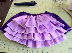 Finished Ruffle Skirt