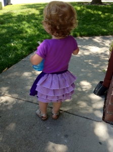 Back of Ruffled Toddler Skirt