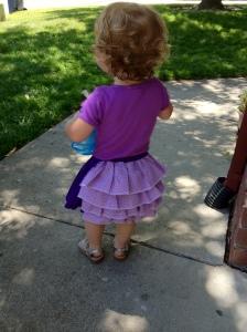Back of Ruffled Toddler Skirt