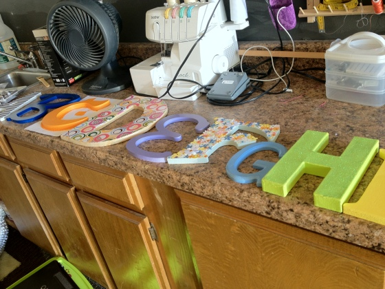 Finished Alphabet Letters