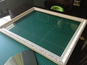 Picture frame with glass