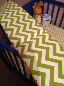 DIY baby bedding bumper