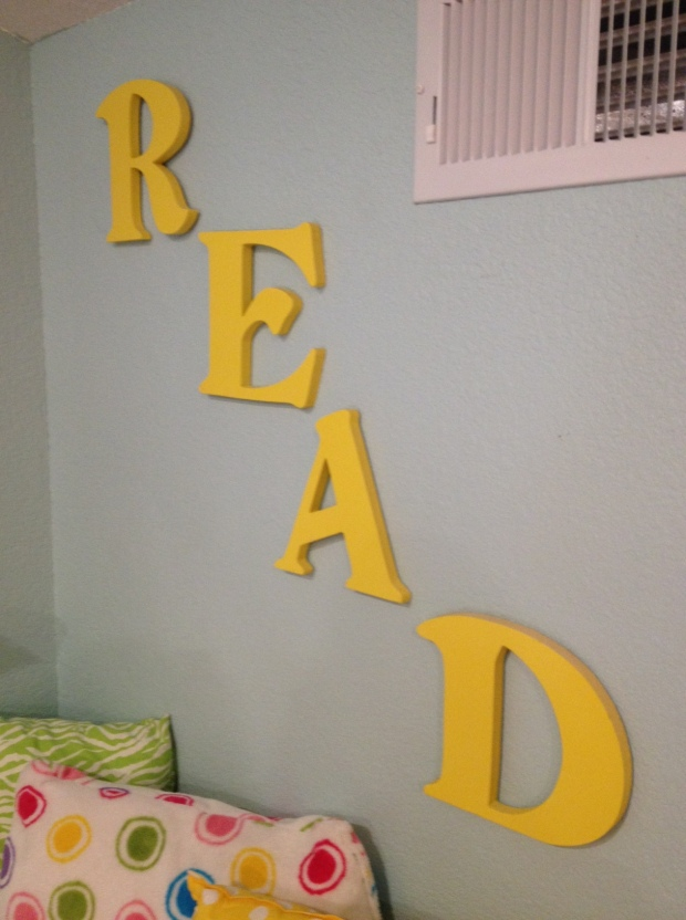 READ diy wooden letters