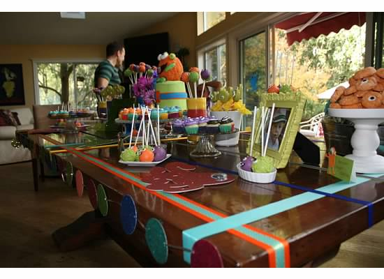 Monster Party Theme Table Decor