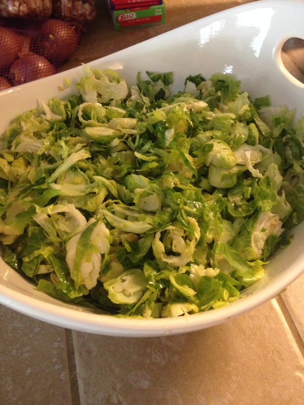 Shaved Brussel Sprout Salad 6