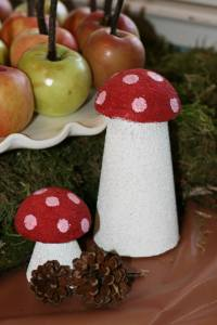 Styrofoam Mushrooms