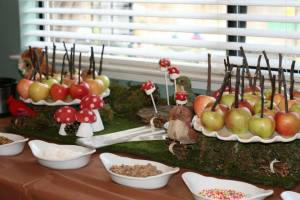 DIY Caramel Apple Buffet