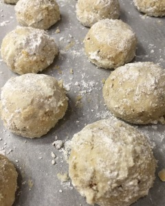Gluten Free Pecan and Coconut snowball cookies
